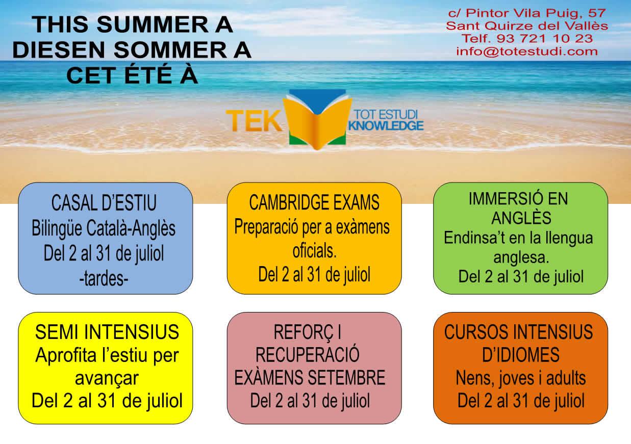 TEK oferta curs angles quirze valles barcelona curso